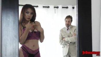 tiny japanese pornstar Miku Airi rammed pov